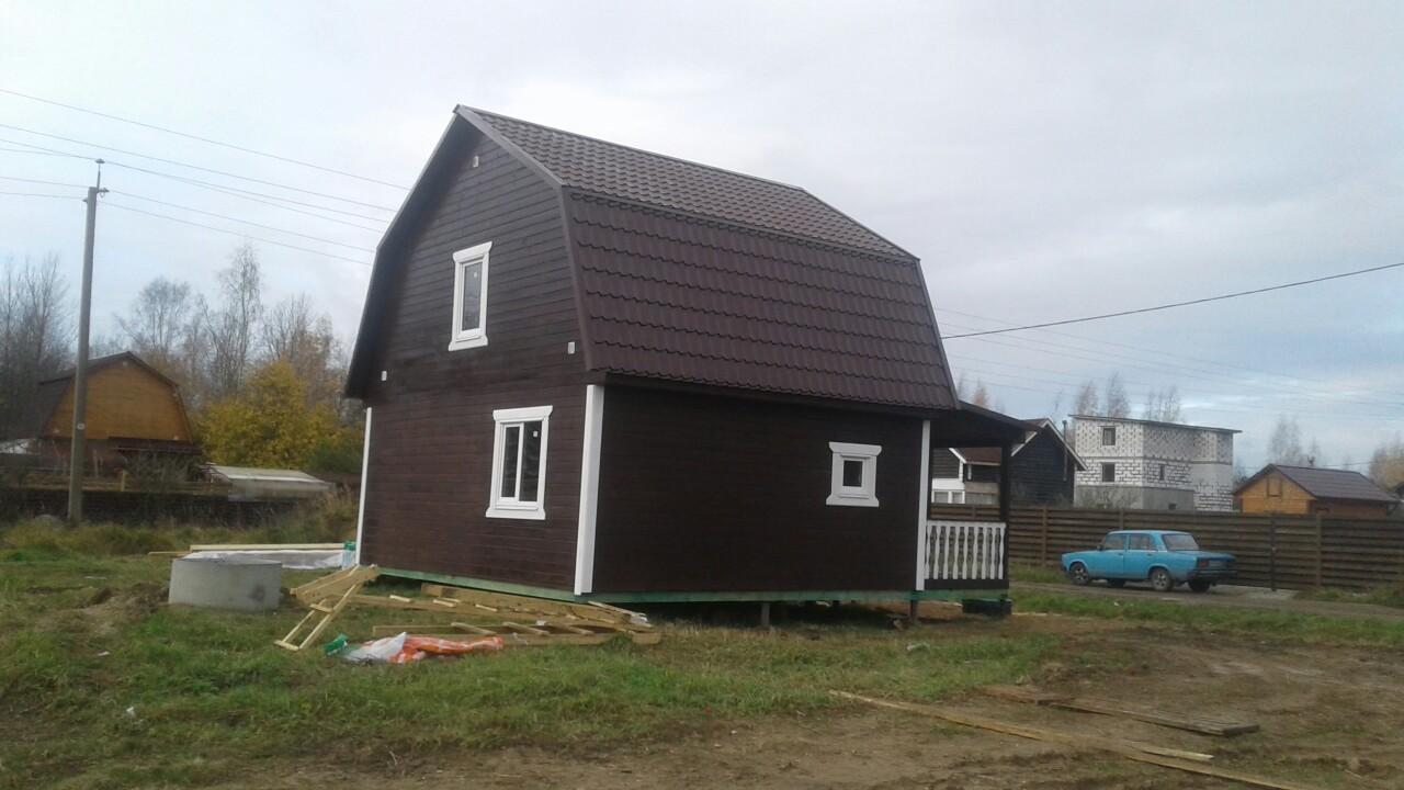 Каркасный дом 6х7 с террасой д.Новая Мельница