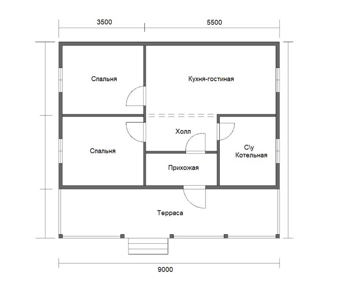Проект дома «D48»