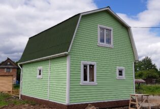 Каркасный дом 6х8 и брусовая баня 4х4 в п.Панковка