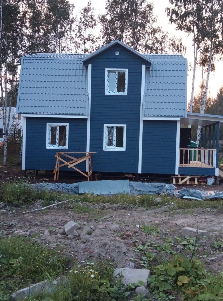 Каркасный дом 7х8м с террасой 2х7м в д.Мендсары, Всеволжского района