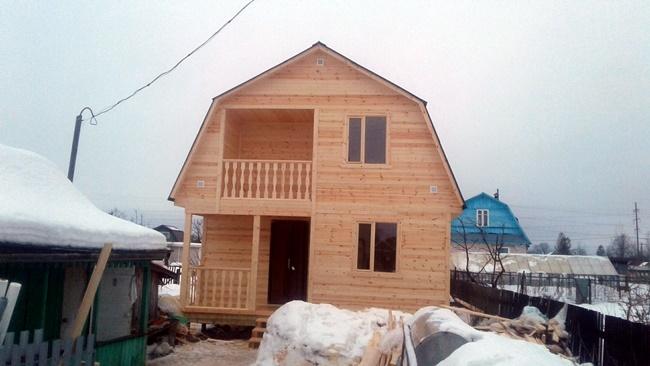 Каркасный дом 6х6 д.Новая Мельница