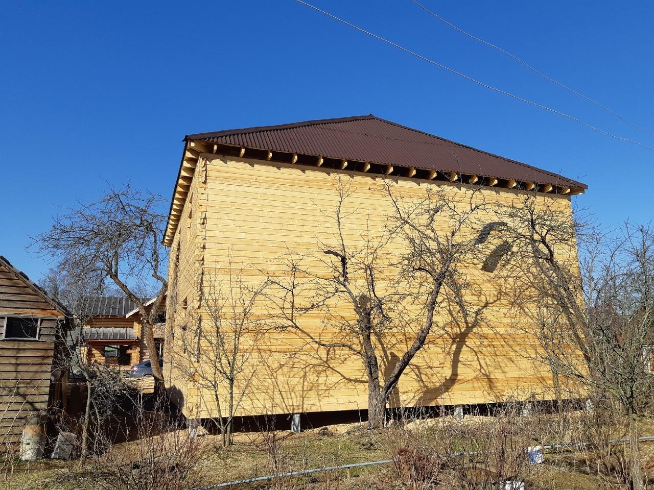 Брусовой дом 11х11 под усадку г.Пушкин
