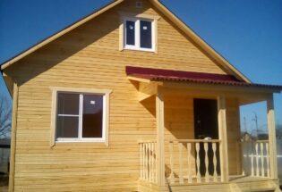 каркасный дом 6х6 Новая Мельница