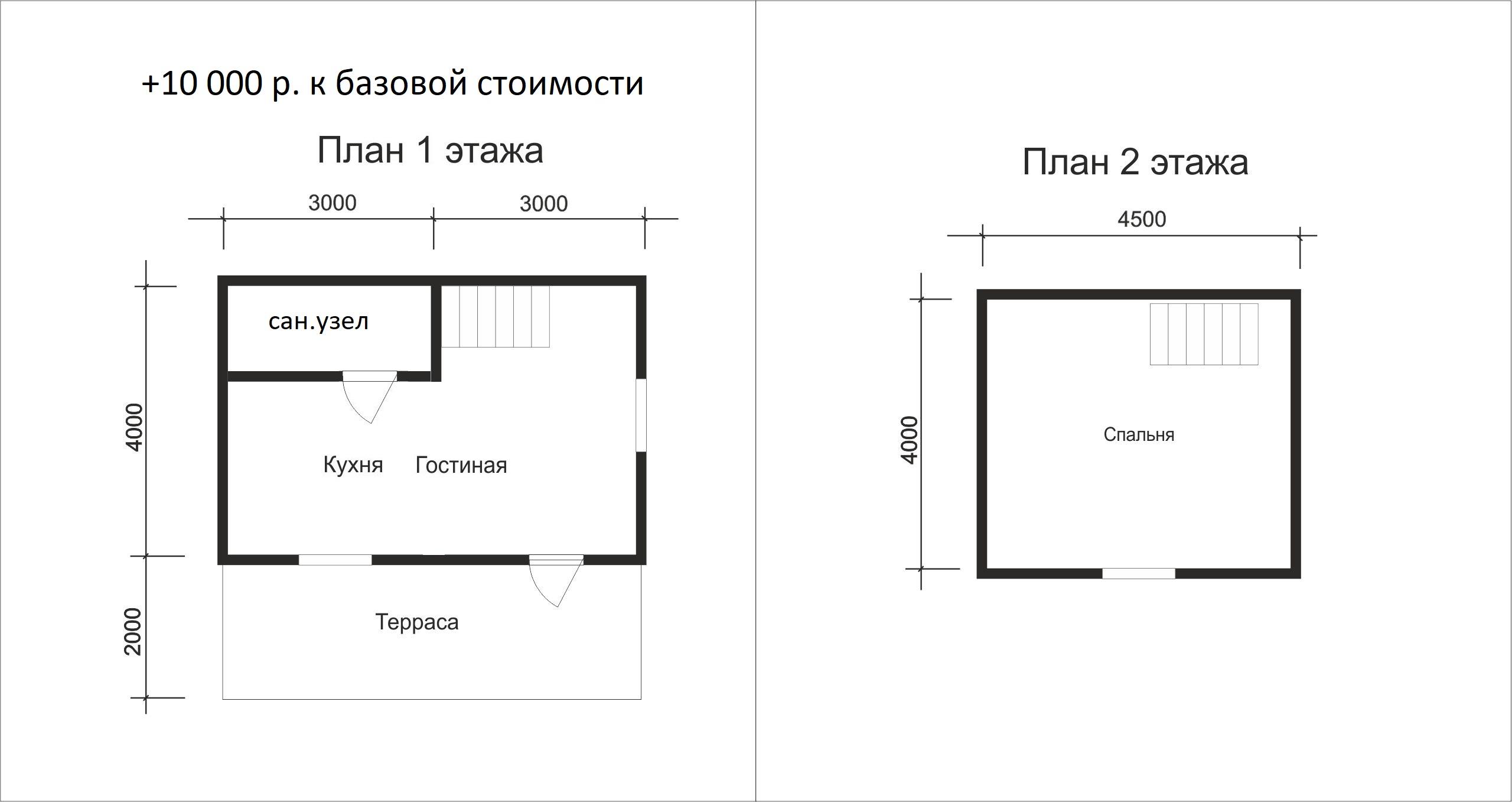 Проект каркасного дома D3