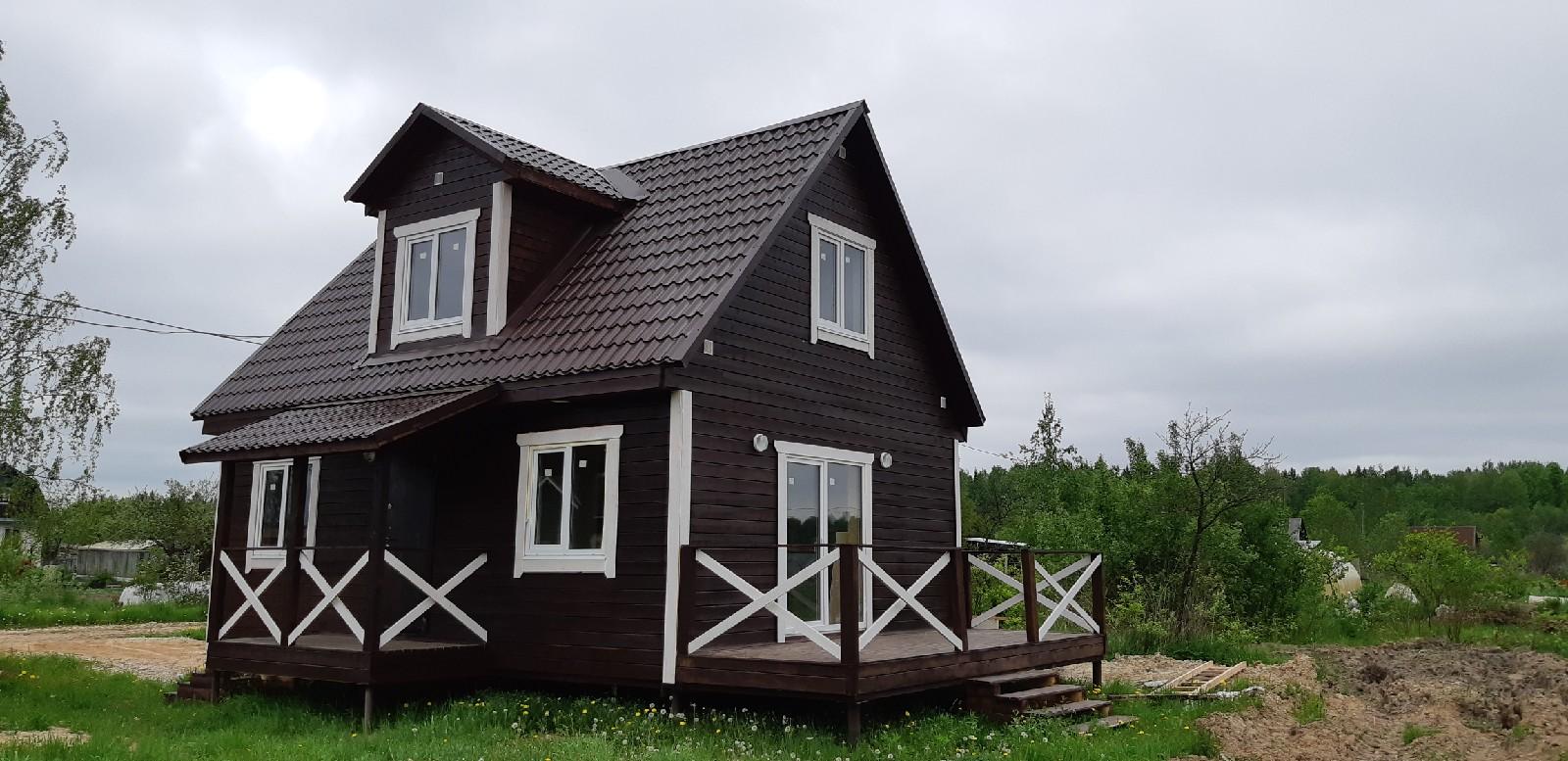 Каркасный дом 6х8 с коммуникациями д.Новая Мельница