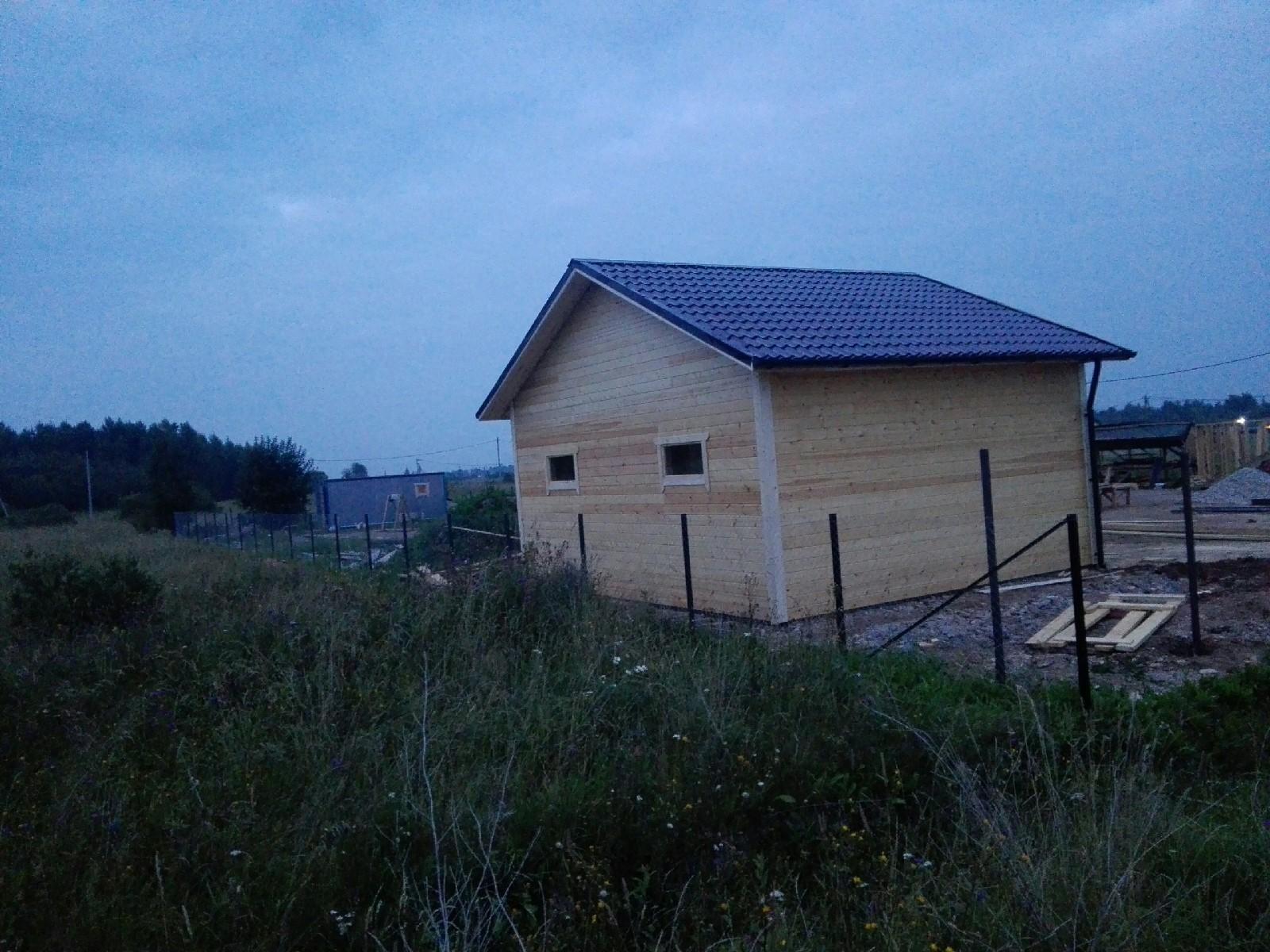каркасный гараж 6х7м в п.Шимск
