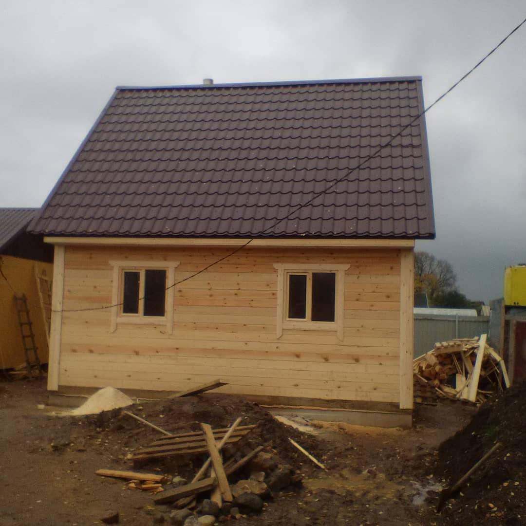 Брусовая баня 6х6м в Гатчинском районе Ленинградской области