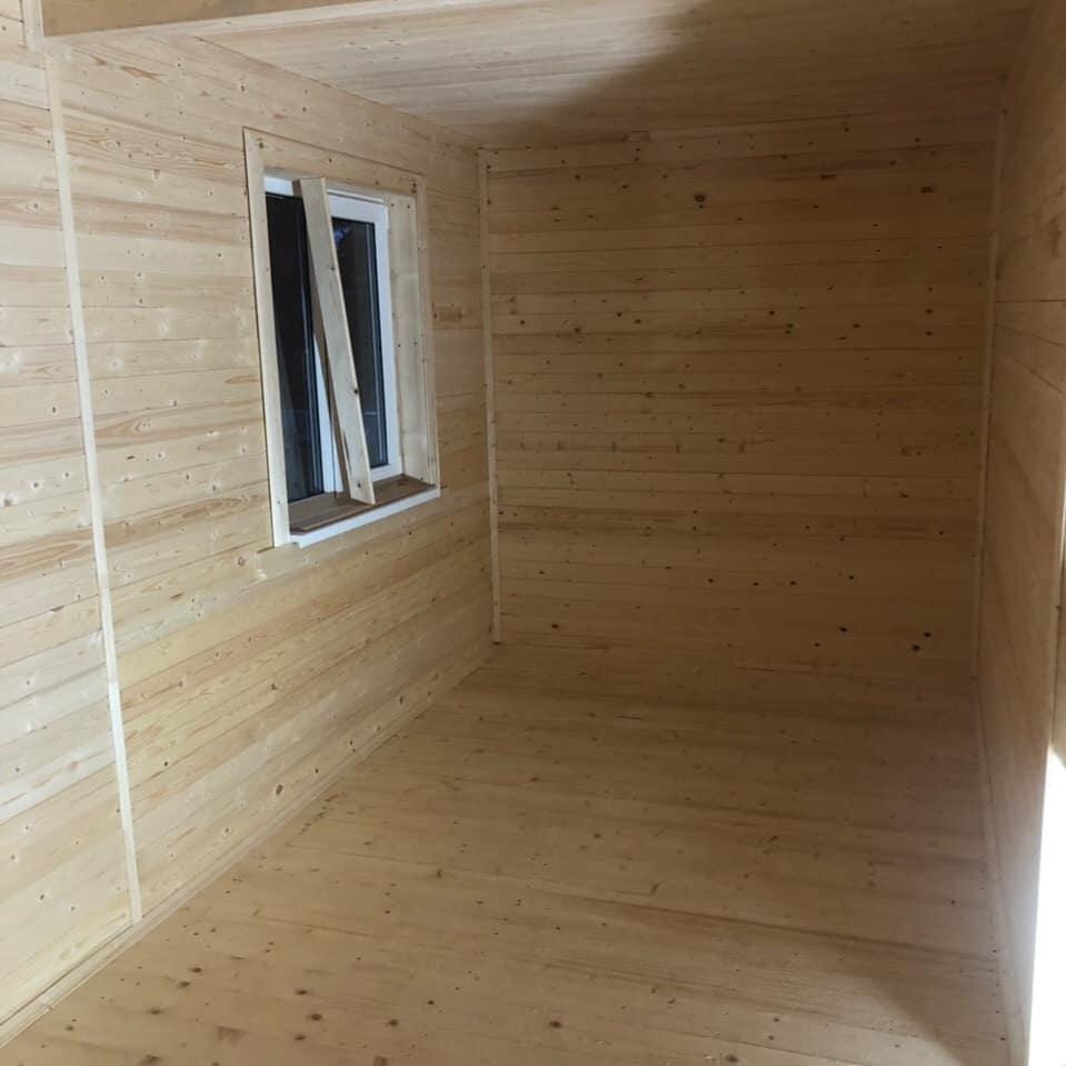 Каркасный дом 6х6 с мансардным этажом в Солецком районе