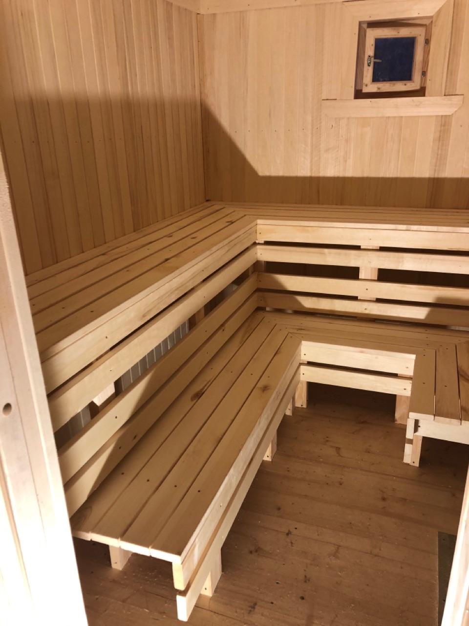 Брусовая баня 6х6м в Красносельском районе Ленинградской области