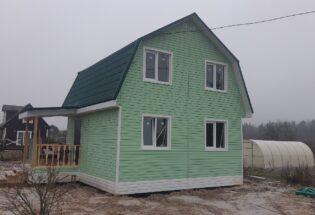 Каркасный дом 6х6 с мансардным этажом д.Новая Мельница Новгородский район