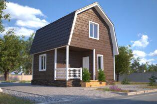 Проект каркасного дома D10