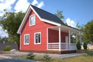 Проект каркасного дома D11