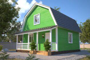 Проект каркасного дома D12
