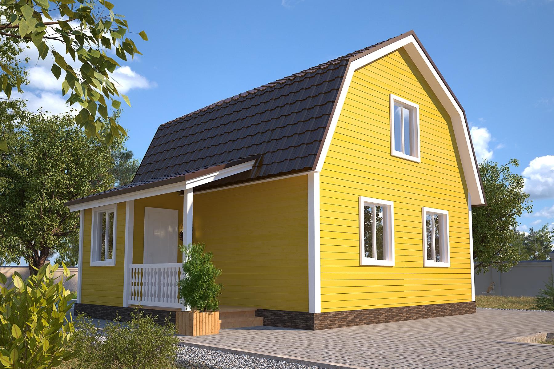 Проект каркасного дома D13