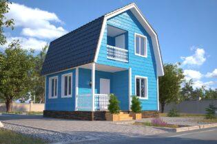 Проект каркасного дома D14