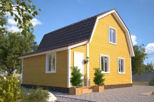 Проект каркасного дома D19