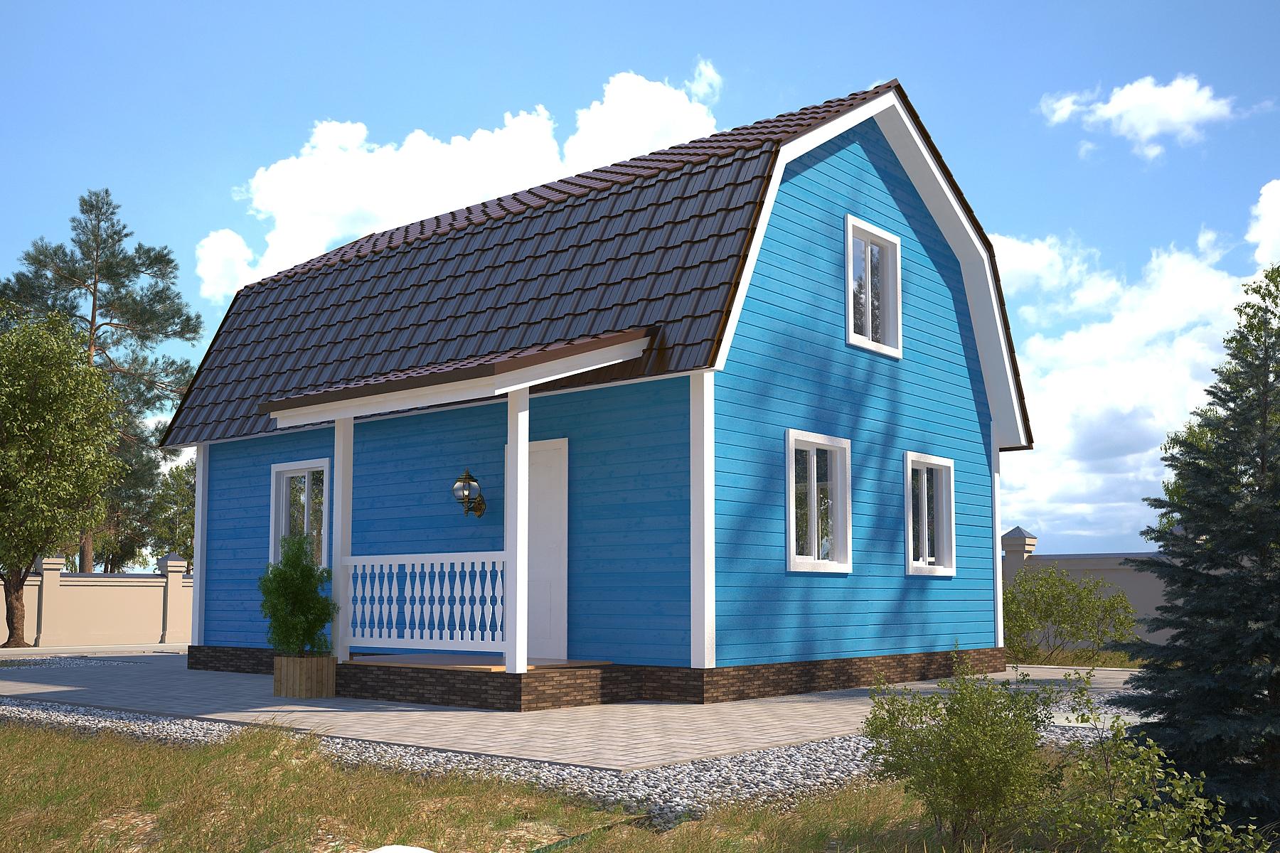 Проект каркасного дома D21
