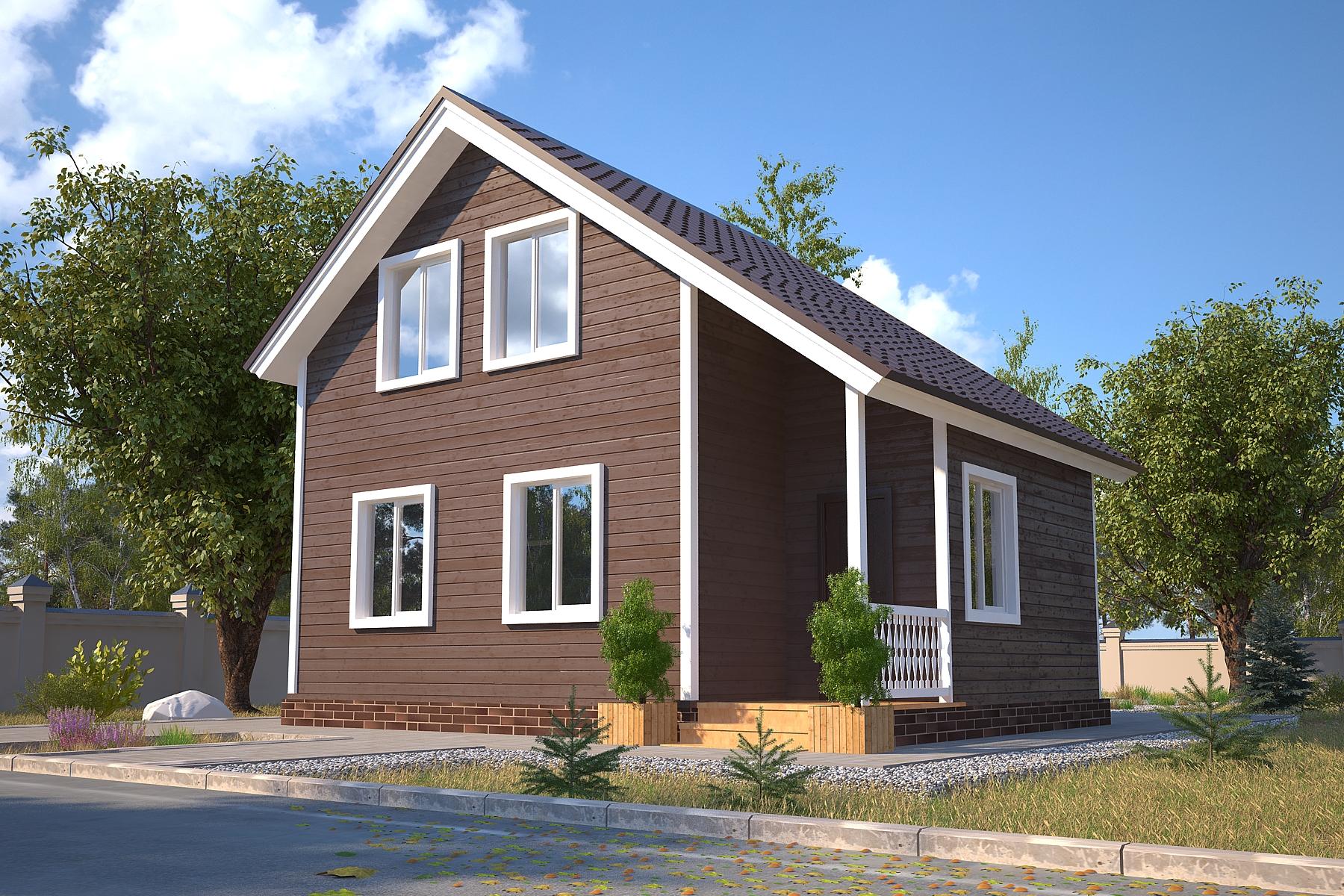 Проект каркасного дома D22