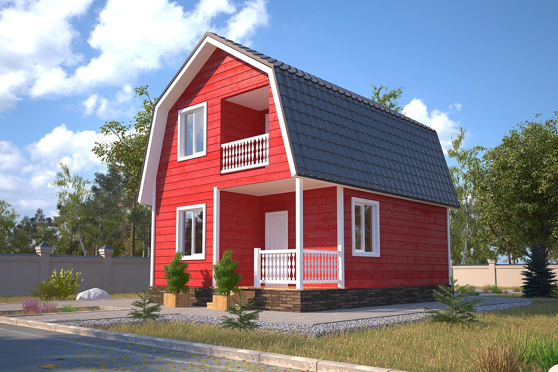 Проект каркасного дома D23