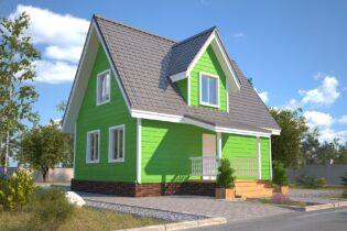 Проект каркасного дома D24
