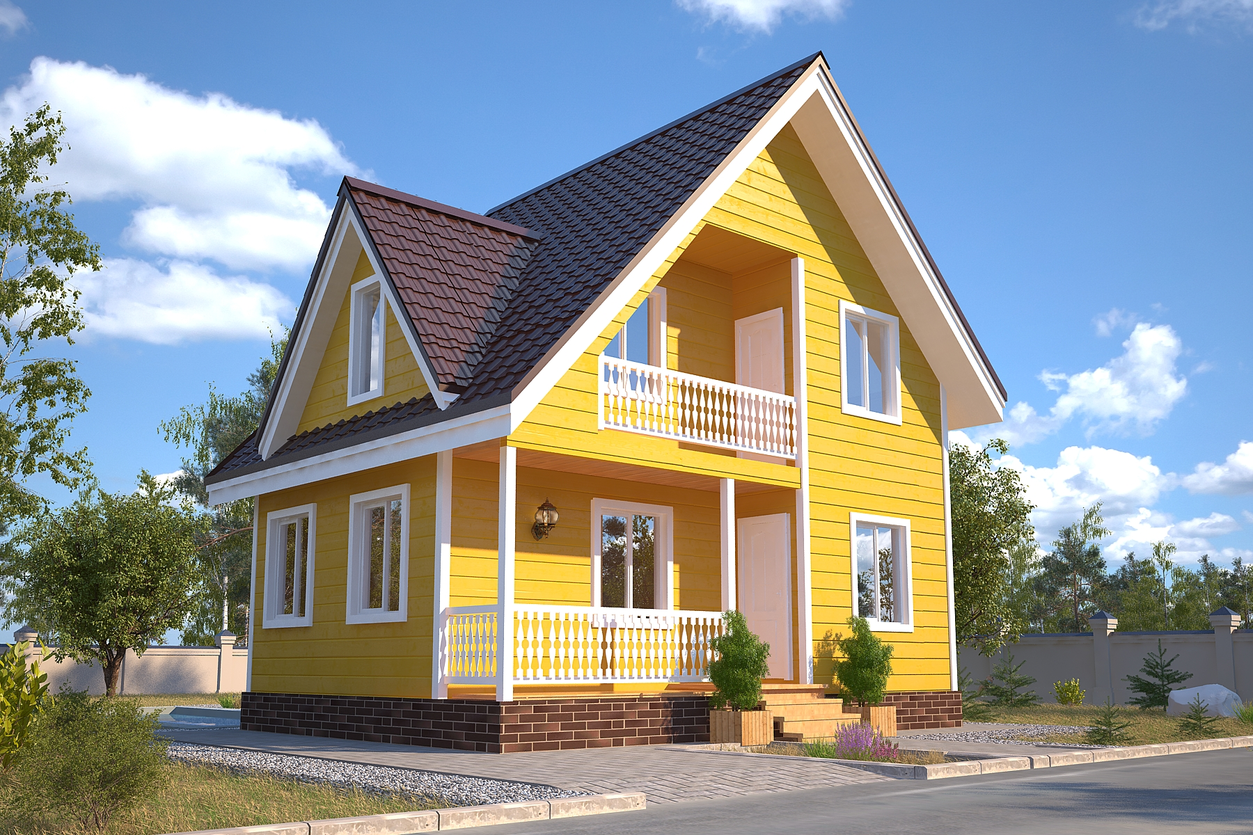 Проект каркасного дома D25