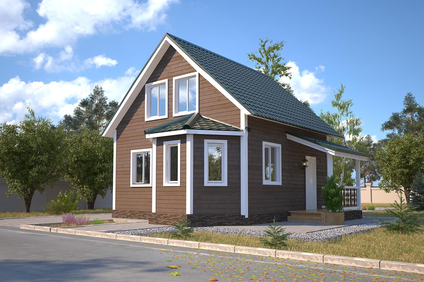 Проект каркасного дома D 27