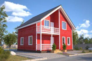 Проект каркасного дома D28