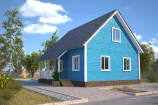 Проект каркасного дома D29
