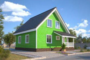 Проект каркасного дома D30