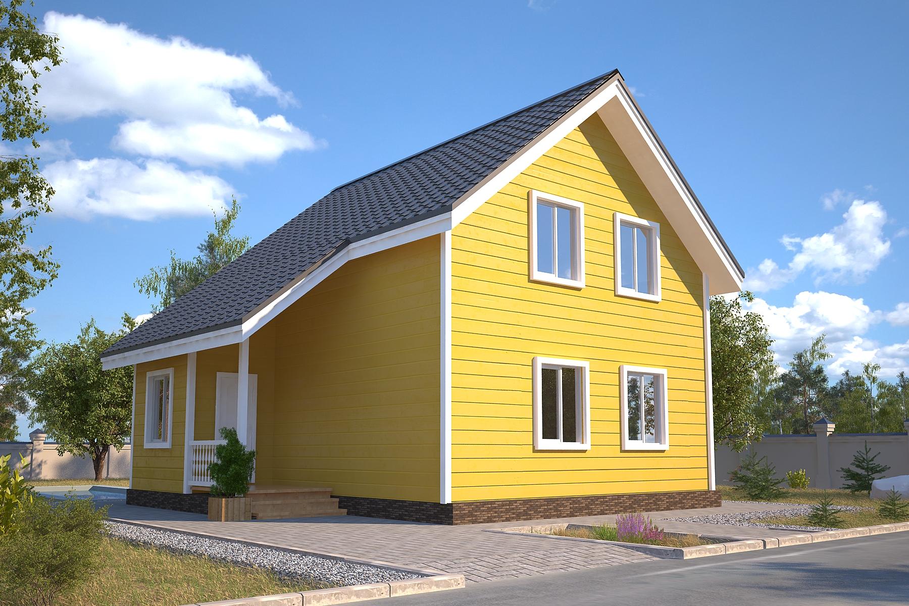 Проект каркасного дома D31