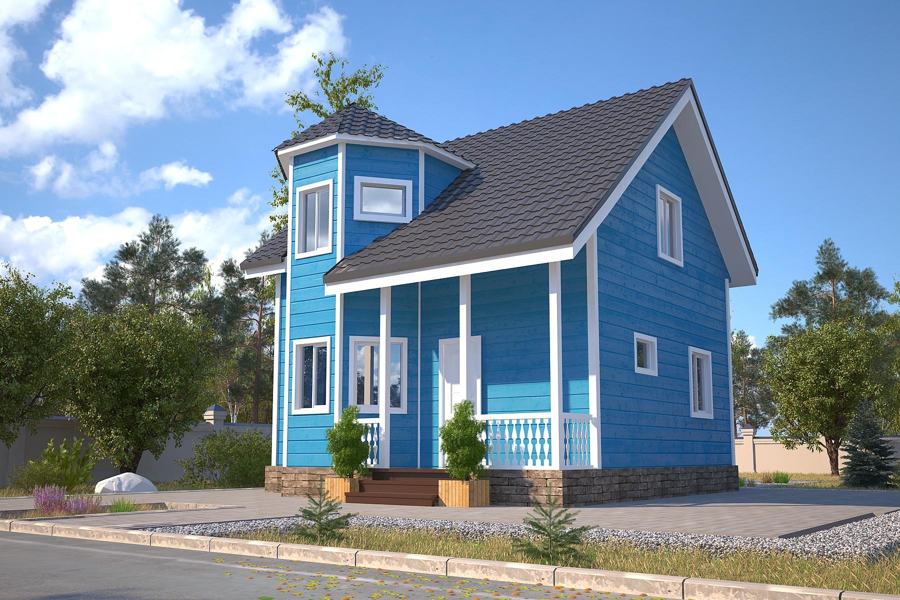 Проект каркасного дома D32