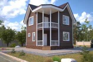 Проект каркасного дома D33