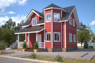 Проект каркасного дома D34