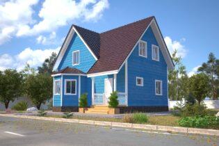 Проект каркасного дома D35