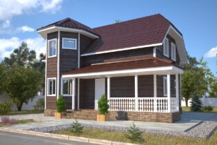 Проект каркасного дома D36