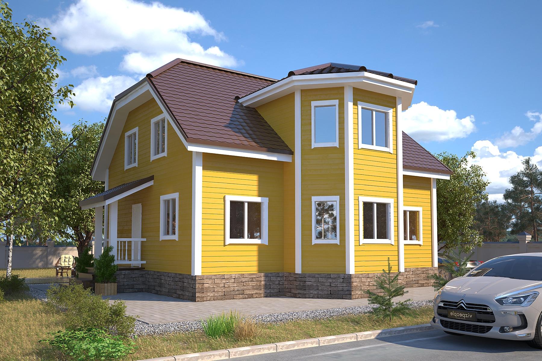 Проект каркасного дома D37