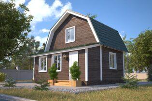 Проект каркасного дома D4