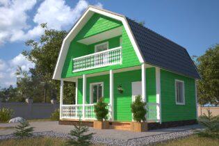 Проект каркасного дома D6