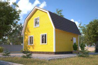 Проект каркасного дома D7