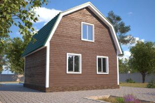 Проект каркасного дома D8