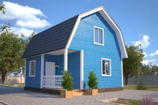 Проект каркасного дома D9