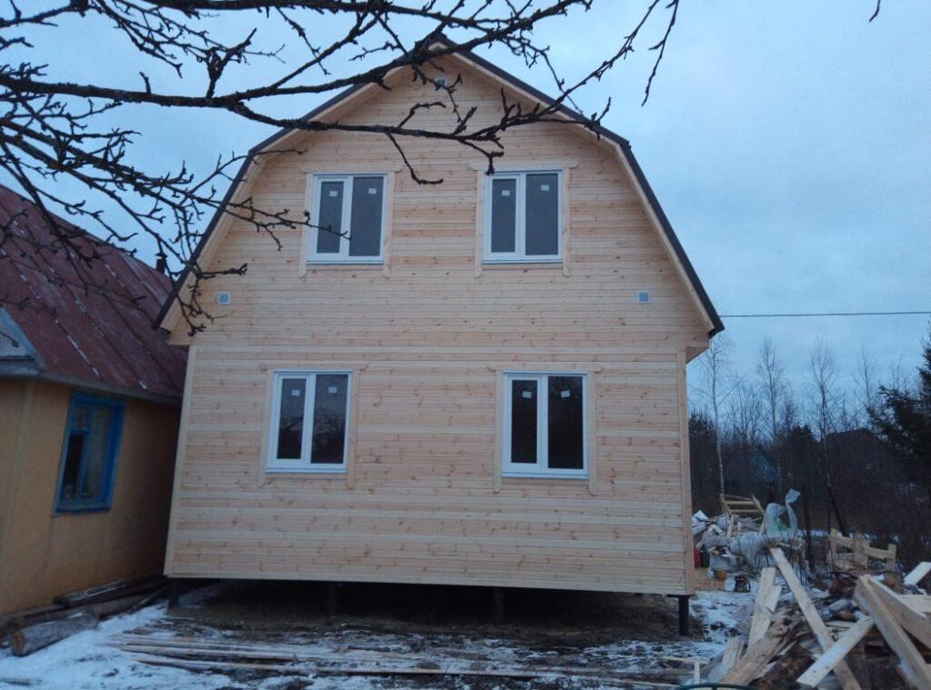 Каркасный дом 6х6 с мансардным этажом СНТ Назия Кировский район Ленинградской области