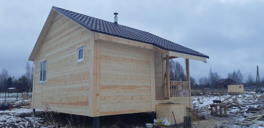 Каркасная баня 6х7м в д.Шевелево Новгородского района