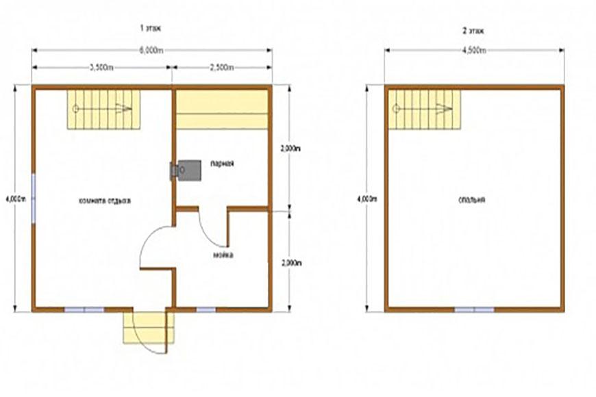 Баня 15 схема