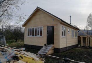 Каркасный дом 6х8м СНТ Меридиан Киришский район Ленинградской области