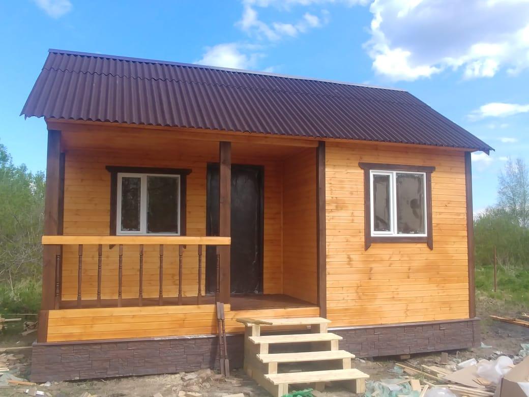Каркасный дачный дом 6х4м д.Новая Мельница Новгородской области