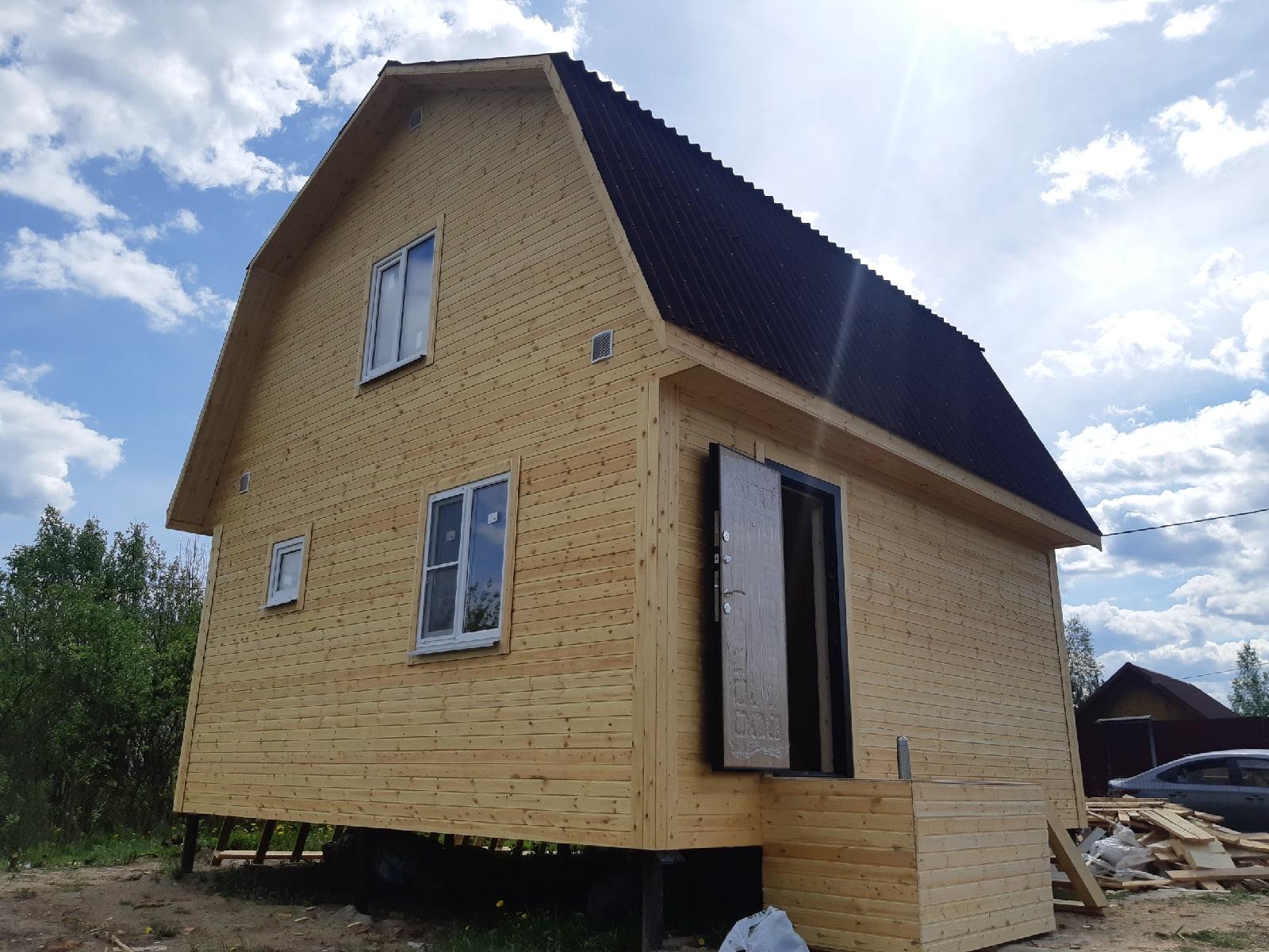 Каркасный дом 6х6м с мансардным этажом, д.Горынево Новгородской области