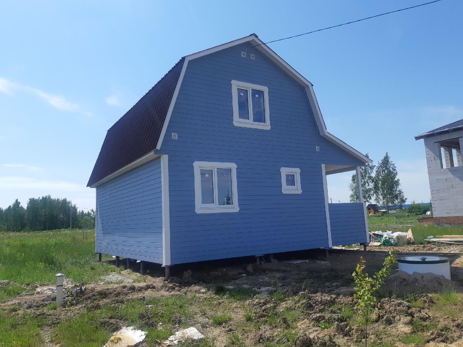 Каркасный дом 6х8м с террасой и всеми коммуникациями, д.Новая Мельница