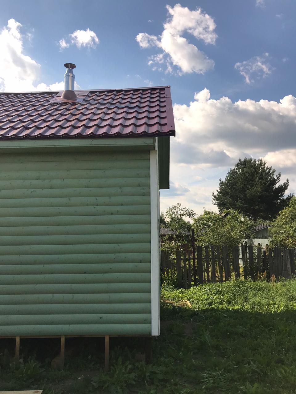 Каркасная баня 6х4м в с.Бронница, Новгородской области