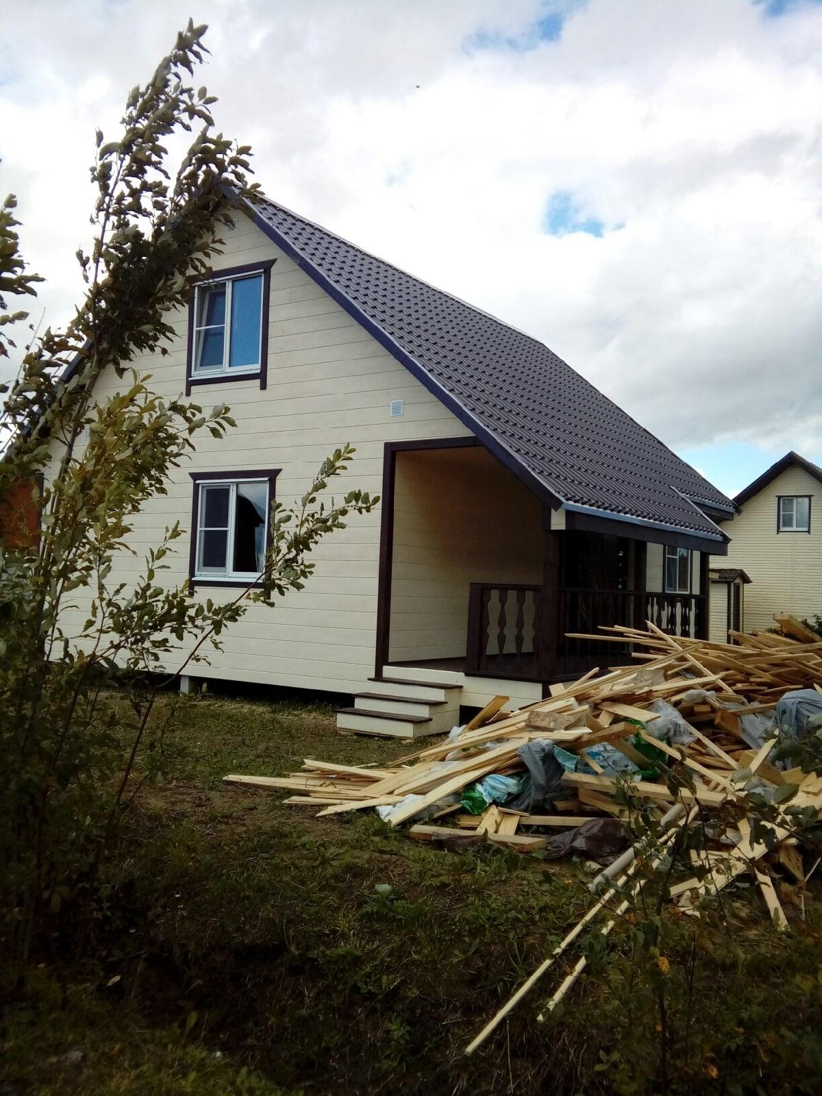 Каркасный дом 8х8м в кировском районе Ленинградской области